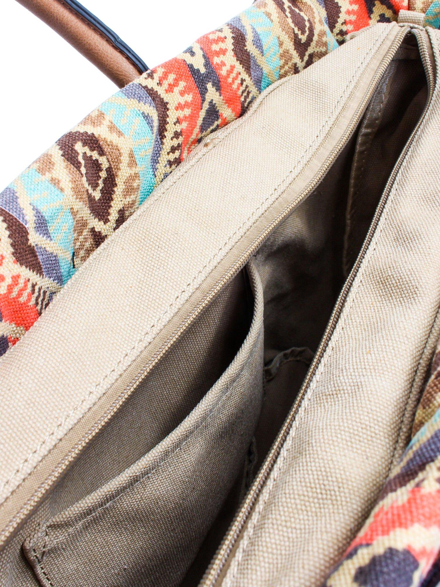 Żólta torba gumowa z motywem azteckim                                  zdj.                                  9