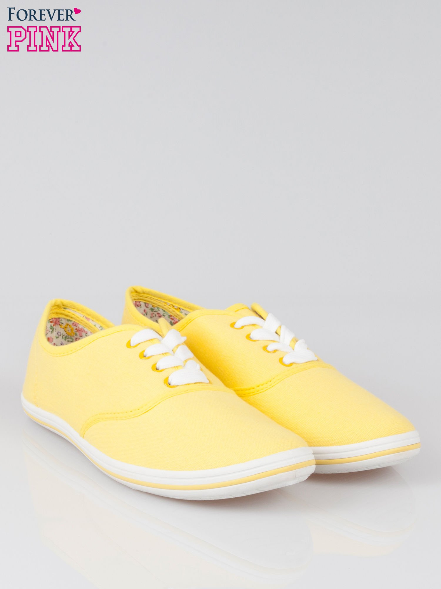Żółte trampki z tkaniny Phillie                                   zdj.                                  2
