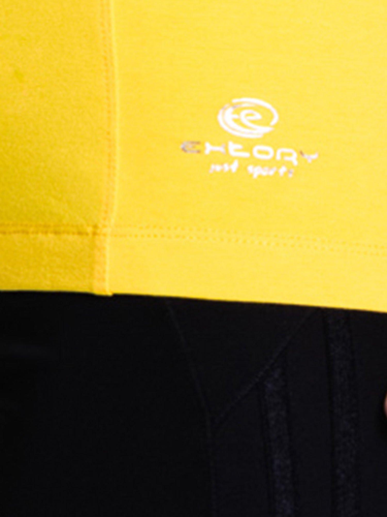 Żółty damski t-shirt sportowy basic                                  zdj.                                  5