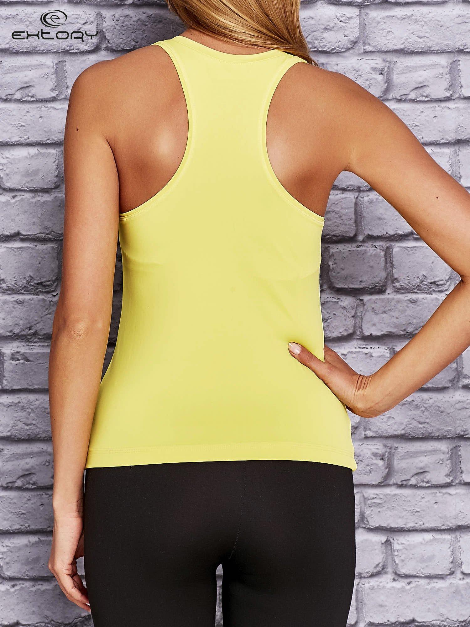 Żółty modelujący top sportowy bokserka                                  zdj.                                  2