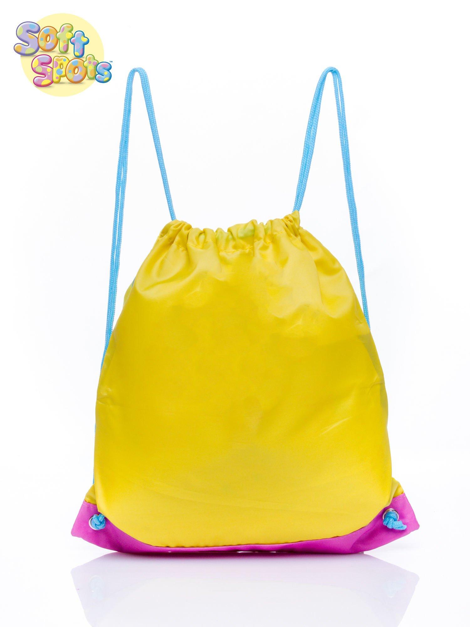 Żółty plecak worek DISNEY Soft Spots                                  zdj.                                  2