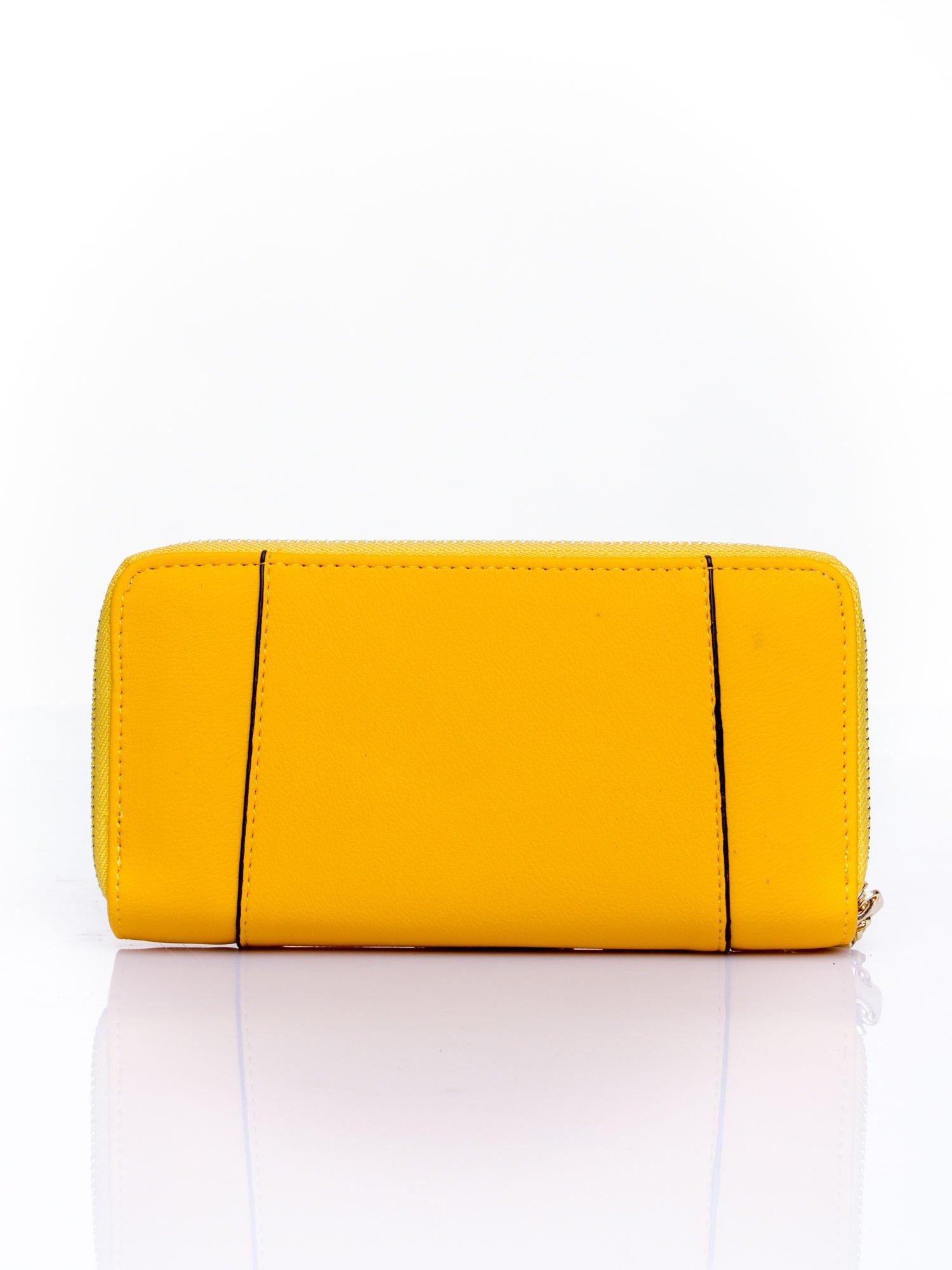 Żółty portfel ze złoconą klamrą                                  zdj.                                  2