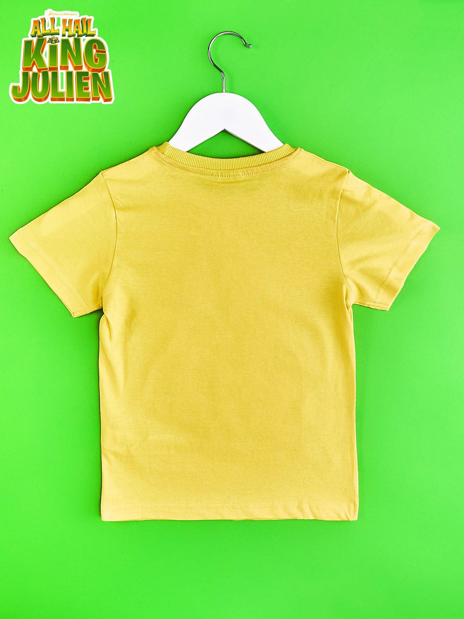 Żółty t-shirt chłopięcy KRÓL JULIAN                                  zdj.                                  2