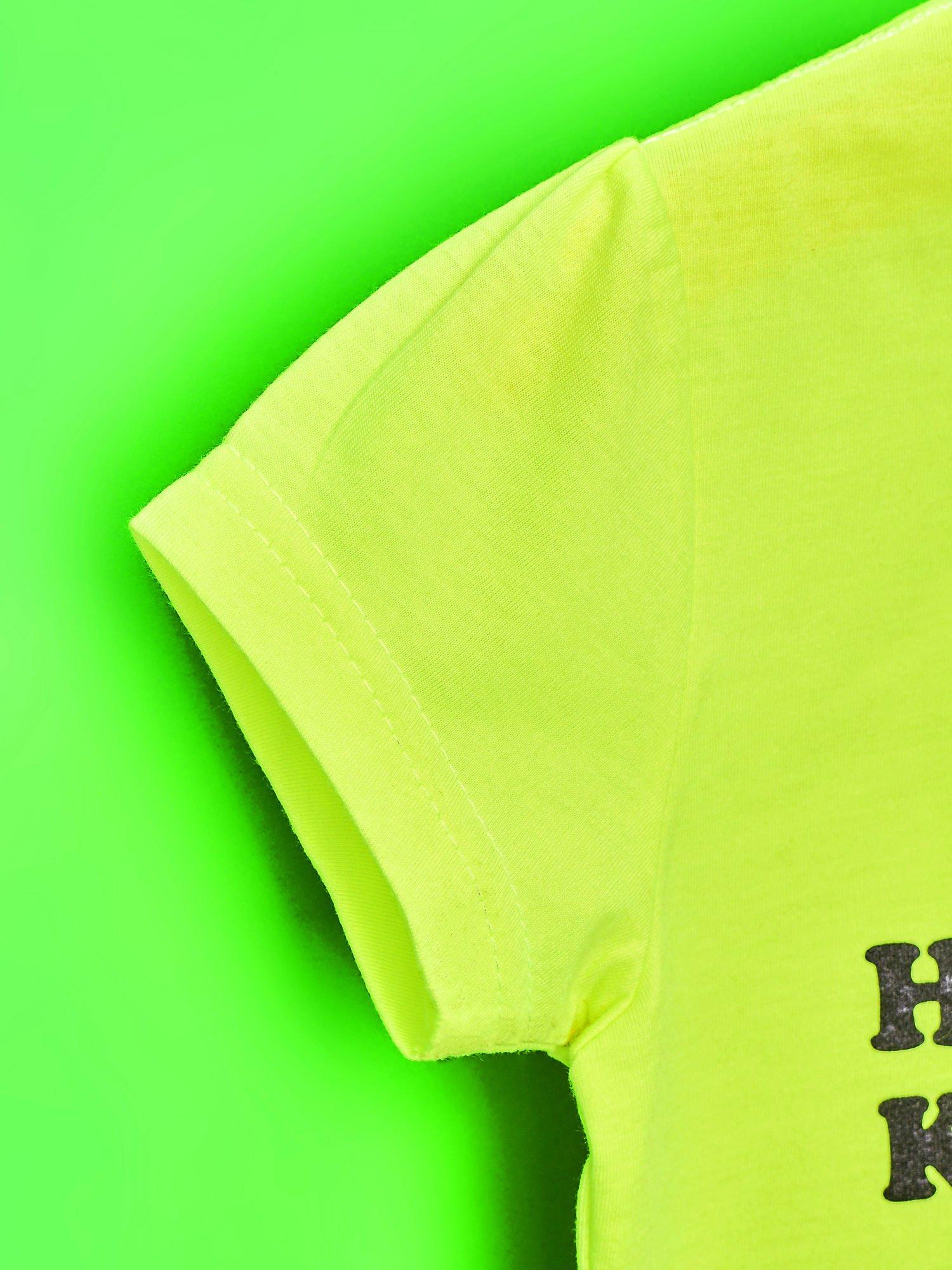 Żółty t-shirt dla dziewczynki HELLO KITTY z gwiadkami                                  zdj.                                  6
