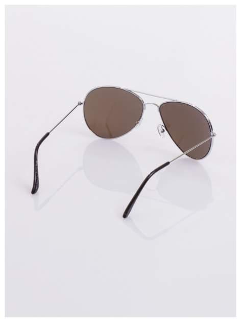 AVIATORY srebrne okulary pilotki lustrzanki niebieskie                                  zdj.                                  4