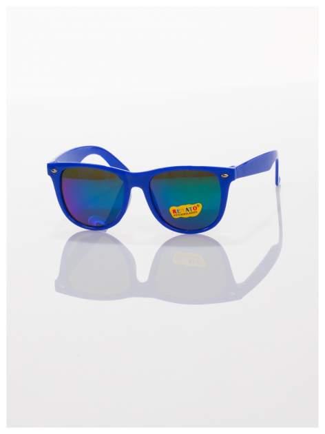 Dziecięce lustrzanki z filtrami UV okulary z klasyczną oprawką WEYFARER NERD odporne na wyginania                                   zdj.                                  2