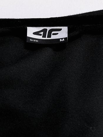 4F Czarna gładka bluza z kapturem                                  zdj.                                  4