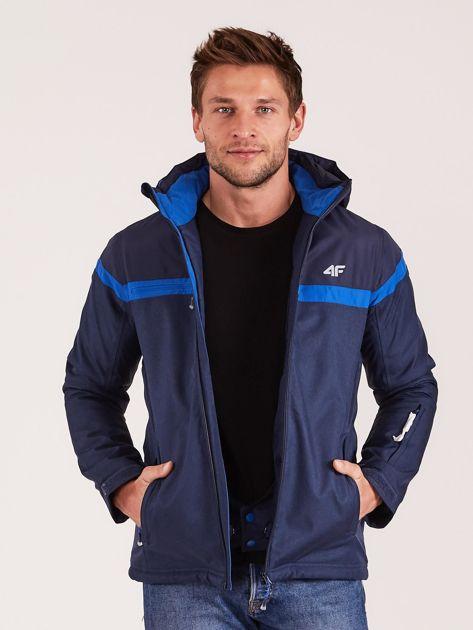 4F Granatowa męska kurtka narciarska                              zdj.                              7
