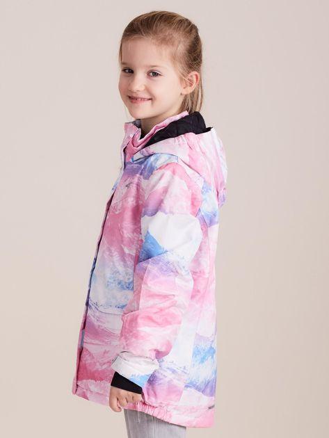 4F Kolorowa kurtka narciarska dla dziewczynki                              zdj.                              3