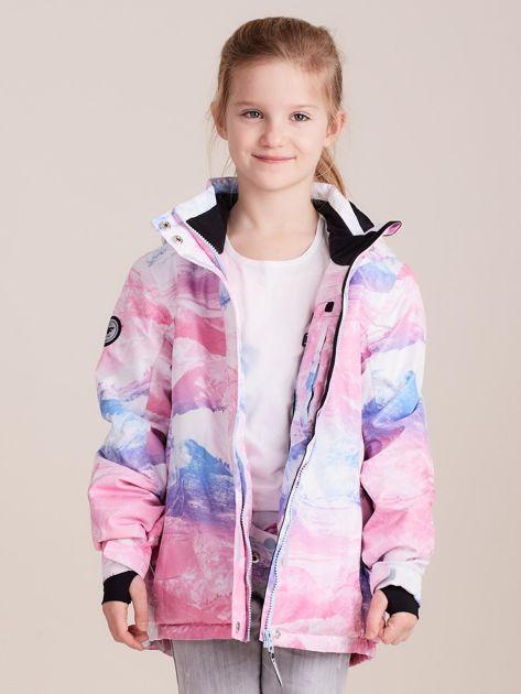 4F Kolorowa kurtka narciarska dla dziewczynki                              zdj.                              5