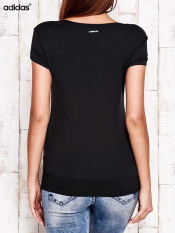 ADIDAS Czarny gładki t-shirt                                   zdj.                                  3