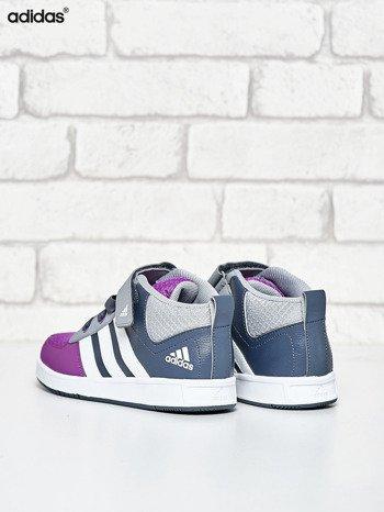 ADIDAS Szare buty sportowe dziecięce z zapięciem na rzepy                                  zdj.                                  4