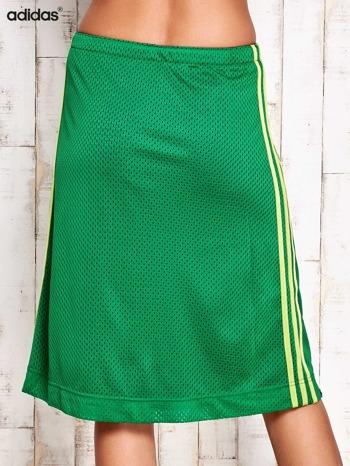 ADIDAS Zielona spódnica z lampasami                                  zdj.                                  3