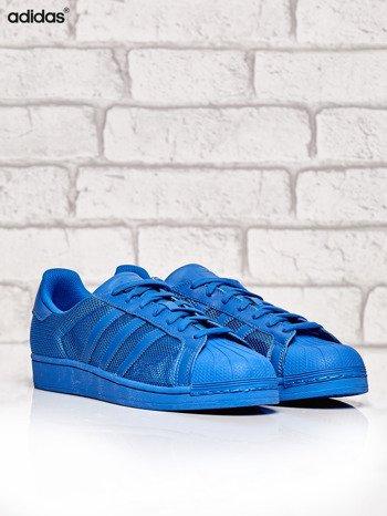 ADIDAS niebieskie buty męskie Superstar Blue z dziurkowaną fakturą                              zdj.                              2