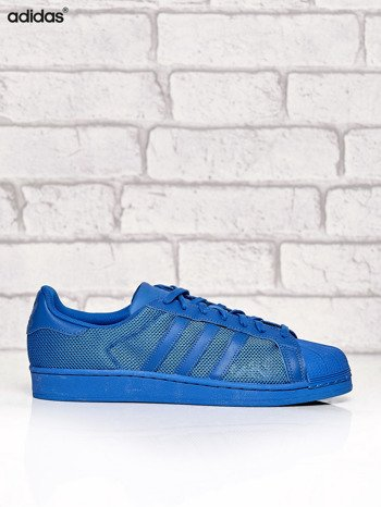 ADIDAS niebieskie buty męskie Superstar Blue z dziurkowaną fakturą                              zdj.                              1