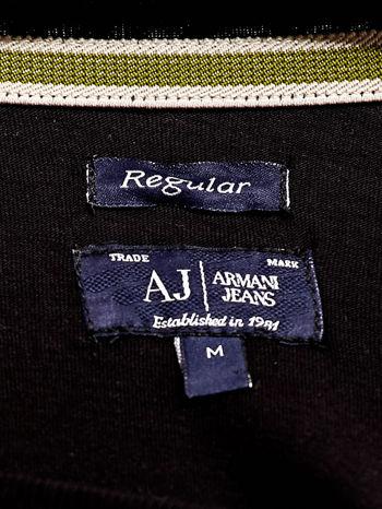 ARMANI JEANS Czarny t-shirt męski z nadrukiem                                  zdj.                                  4