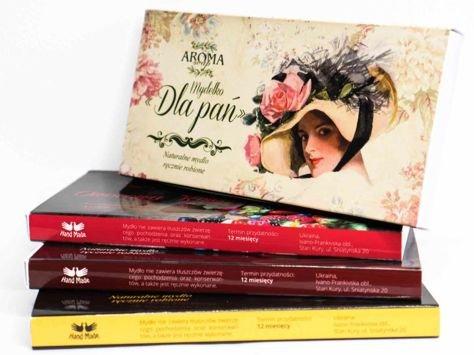 AROMA Soap Zestaw prezentowy 3 naturalne mydełka DLA PAŃ 3 x 50 g                              zdj.                              1
