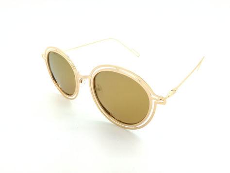 ASPEZO Okulary przeciwsłoneczne POLARYZACYJNE damskie złote MAJORCA. Etui skórzane, etui miękkie oraz ściereczka z mikrofibry w zestawie                              zdj.                              2