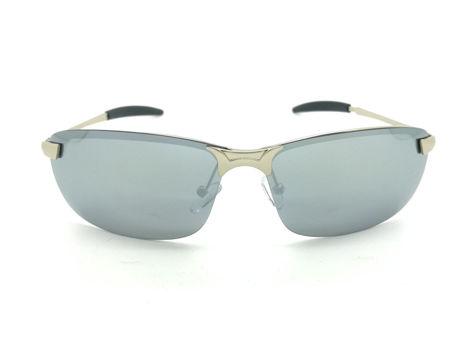 ASPEZO Okulary przeciwsłoneczne damskie POLARYZACYJNE srebrne DAYTONA Etui skórzane, etui miękkie oraz ściereczka z mikrofibry w zestawie
