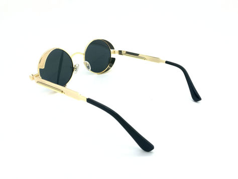 ASPEZO Okulary przeciwsłoneczne damskie POLARYZACYJNE złoto-czarne AMSTERDAM Etui skórzane, etui miękkie oraz ściereczka z mikrofibry w zestawie                              zdj.                              4