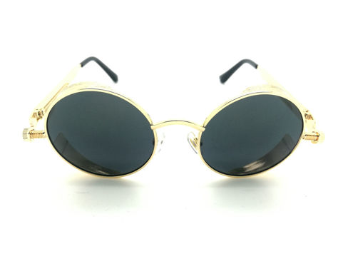 ASPEZO Okulary przeciwsłoneczne damskie POLARYZACYJNE złoto-czarne AMSTERDAM Etui skórzane, etui miękkie oraz ściereczka z mikrofibry w zestawie                              zdj.                              2