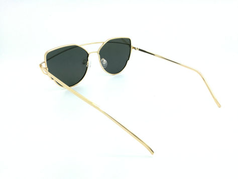 ASPEZO Okulary przeciwsłoneczne damskie POLARYZACYJNE złoto-srebrne LOS ANGELES Etui skórzane, etui miękkie oraz ściereczka z mikrofibry w zestawie                              zdj.                              3