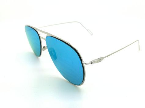 ASPEZO Okulary przeciwsłoneczne damskie błękitne BARCELONA. Etui skórzane, etui miękkie oraz ściereczka z mikrofibry w zestawie                              zdj.                              2