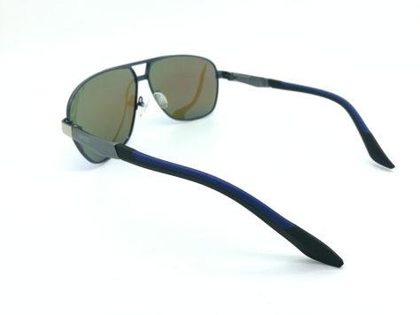 ASPEZO Okulary przeciwsłoneczne unisex POLARYZACYJNE niebieskie FLORIDA Etui skórzane, etui miękkie oraz ściereczka z mikrofibry w zestawie                              zdj.                              3