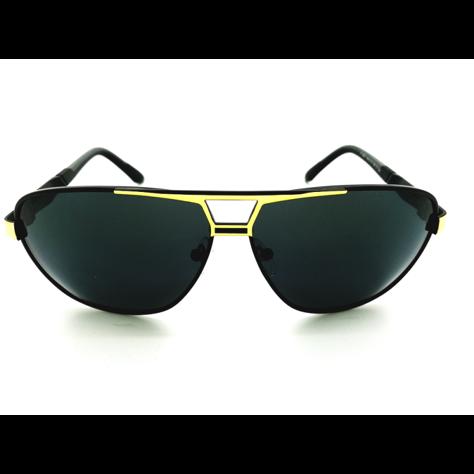 ASPEZO Okulary przeciwsłoneczne unisex POLARYZACYJNE złote FLORIDA Etui skórzane, etui miękkie oraz ściereczka z mikrofibry w zestawie                              zdj.                              1