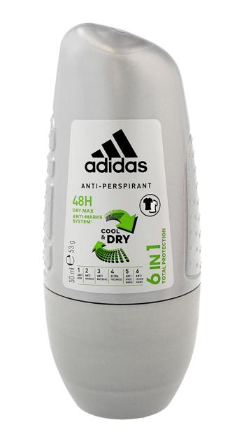 "Adidas for Men Cool & Dry Dezodorant roll-on 6w1  50ml"""