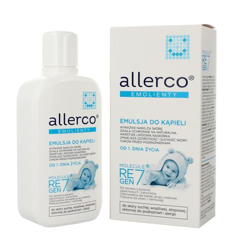 """Allerco Emolienty Emulsja do kąpieli dla dzieci i niemowląt dla skóry suchej,wrażliwej i atopowej  400ml"""""""