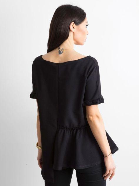 Asymetryczna bluzka czarna                              zdj.                              2
