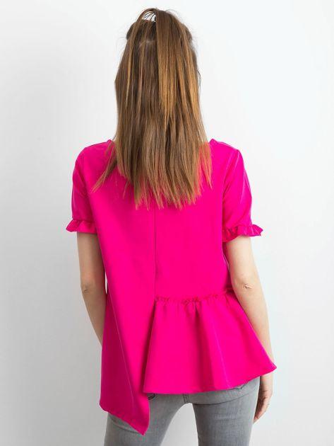 Asymetryczna bluzka fuksjowa                              zdj.                              7