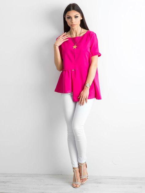 Asymetryczna bluzka fuksjowa                              zdj.                              4