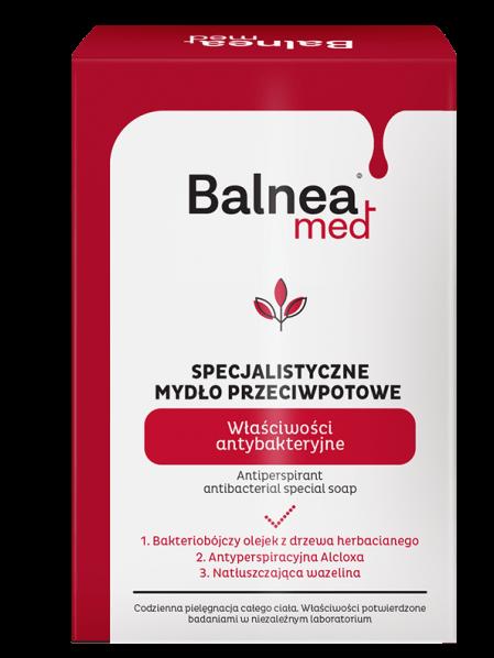 BARWA Balnea Med Specjalistyczne Mydło w kostce przeciwpotowe antybakteryjne 100 g