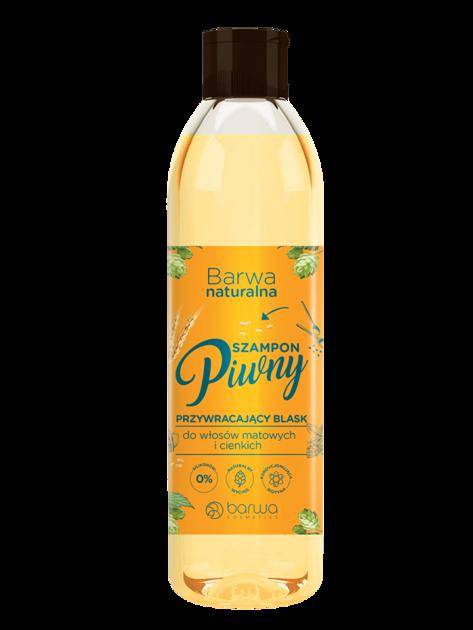 BARWA Naturalna Szampon do włosów piwny przywracający blask - włosy cienkie i matowe 300 ml