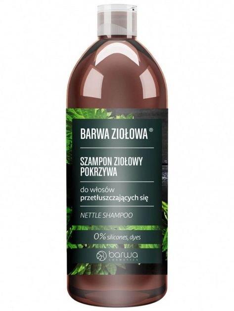 BARWA Ziołowa Szampon do włosów Pokrzywowy - włosy przetłuszczające się 480 ml