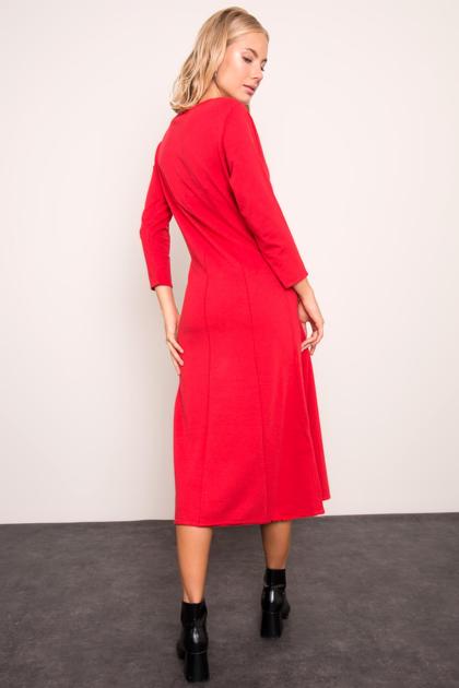 BSL Czerwona sukienka damska                              zdj.                              3