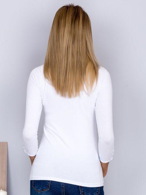 Bawełniana bluzka z guzikami biała                                  zdj.                                  2
