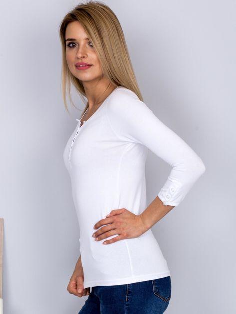 Bawełniana bluzka z guzikami biała                                  zdj.                                  5