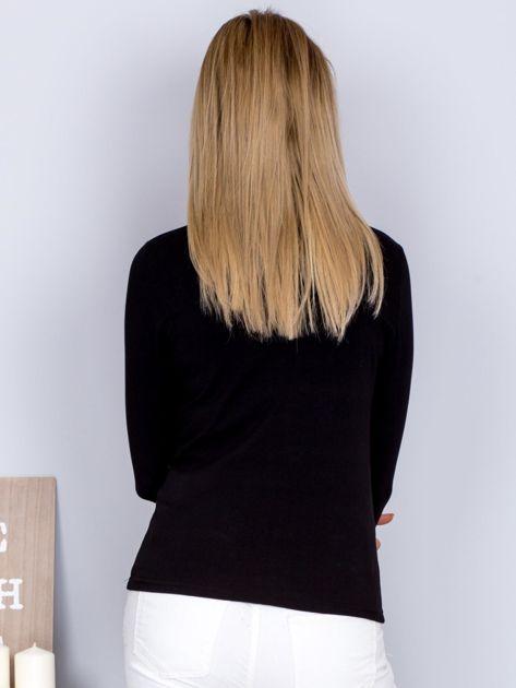 Bawełniana bluzka z guzikami czarna                              zdj.                              2