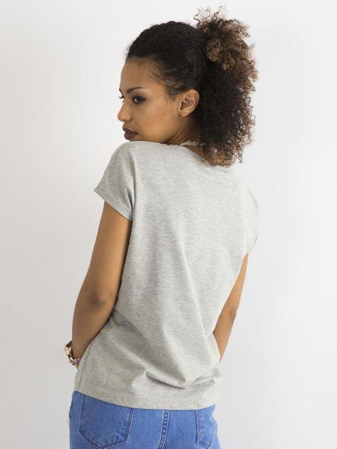 Bawełniany t-shirt szary                              zdj.                              2