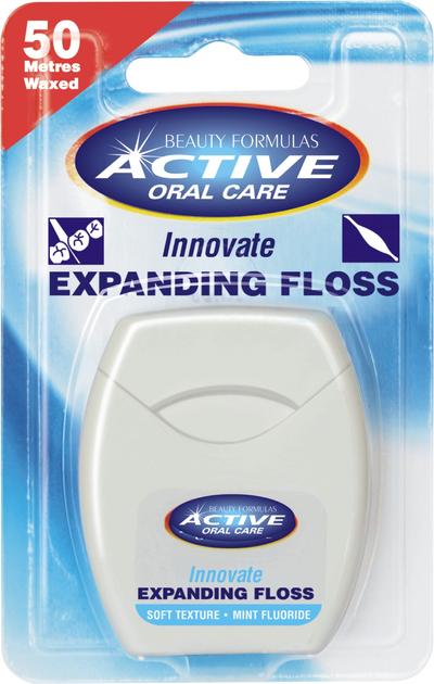 """Beauty Formulas Active Oral Care Nić dentystyczna pęczniejąca miętowa z fluorem"""""""