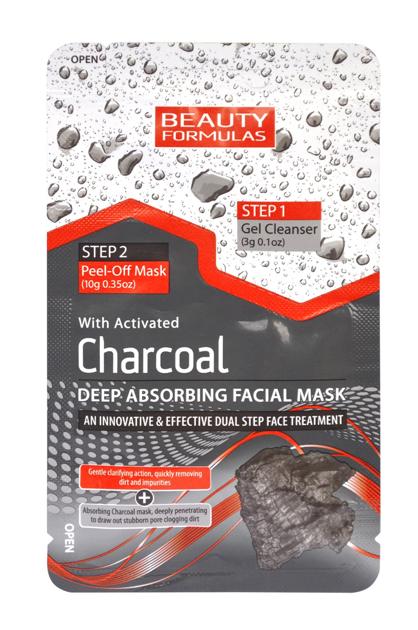 """Beauty Formulas Charcoal Maseczka 2-fazowa głęboko oczyszczająca z aktywnym węglem  13g"""""""