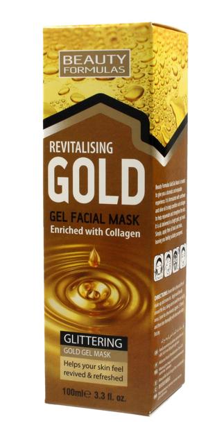 """Beauty Formulas Gold Złota Maseczka rewitalizująca na twarz 100ml"""""""