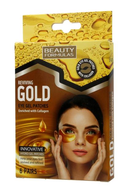 "Beauty Formulas Gold Złote Płatki pod oczy 1op.-6 par"""