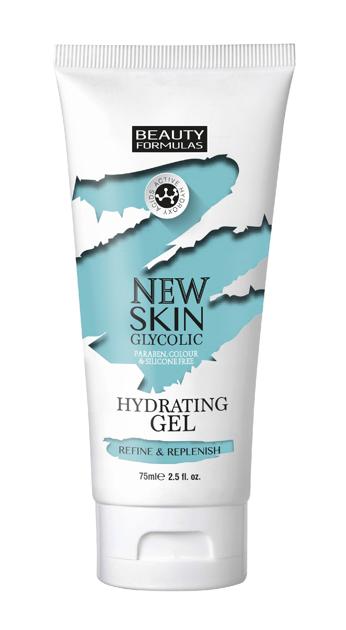 """Beauty Formulas New Skin Glycolic Żel nawilżający do twarzy z kwasem glikolowym  75ml"""""""