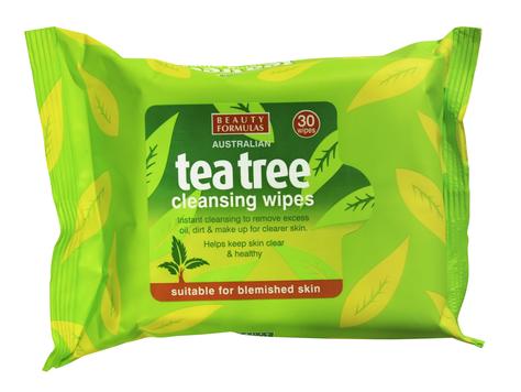 """Beauty  Formulas Tea Tree Chusteczki oczyszczające od twarzy  1op.-30szt"""""""