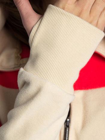 Beżowa bluza polarowa z kapturem z uszkami                                  zdj.                                  10