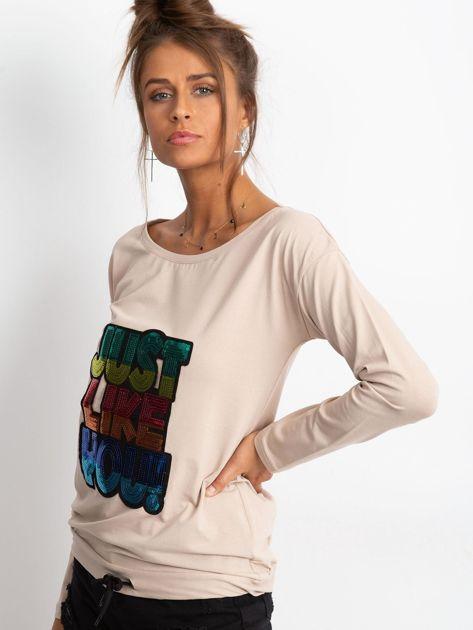 Beżowa bluzka Sequin                              zdj.                              3